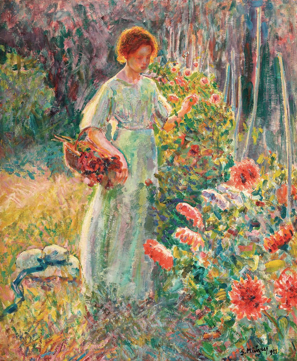 În grădina din Beaucaire [1911], colecție privată