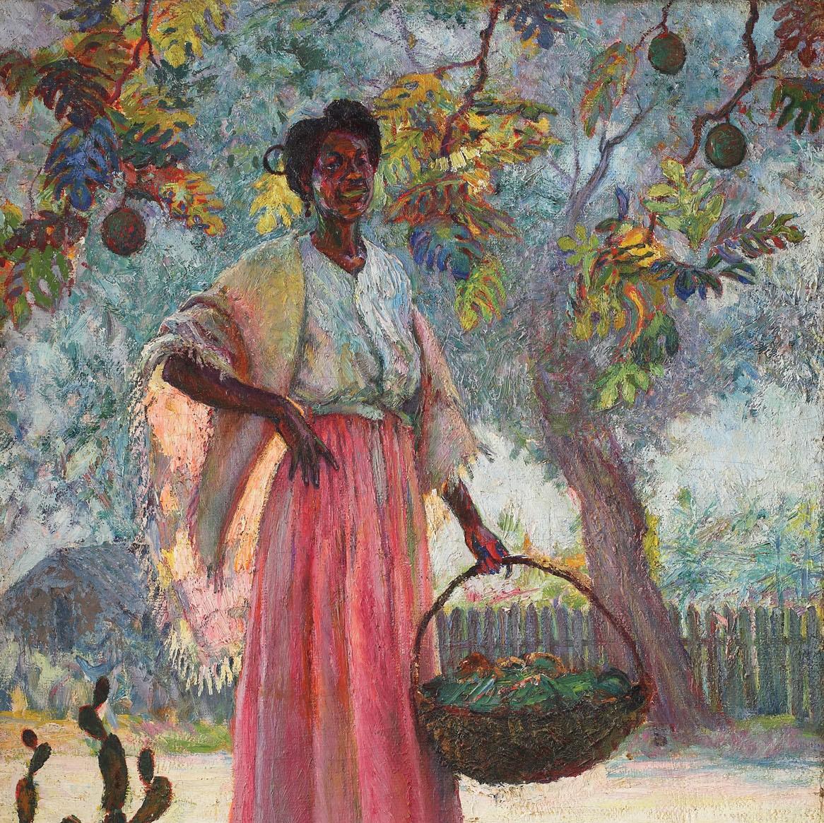 Vânzătoarea de fructe [1916], colecție privată